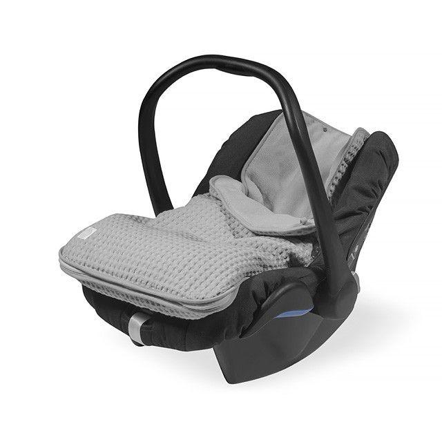 Fußsack für Babyschale waffle grau