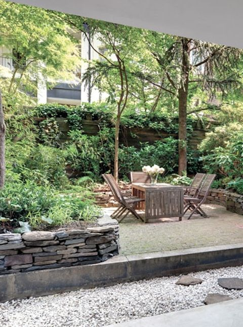 A Modern Victorian Brownstone house in NYC #outdoor #patio #terrace