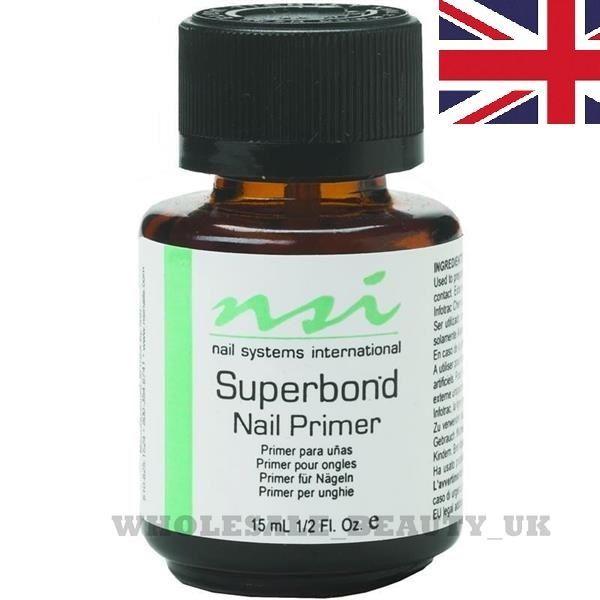 NSI  SuperBond - Nail Primer - 15ml  ♥  FOR UV GELS & ACRYLICS NAILS BONDER