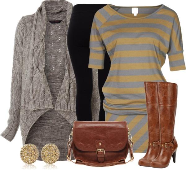 """Striped Jersey Dress"" by wishlist123 ❤ liked on Polyvore"