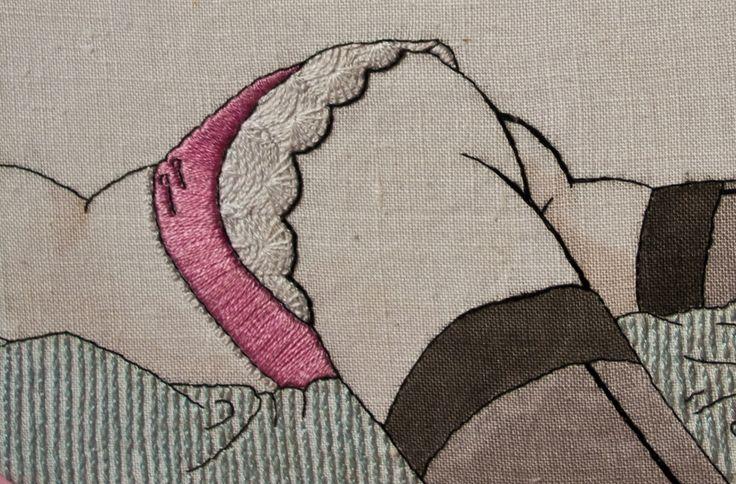 Fingerpricks - Really this is obscene but it is great needle work.