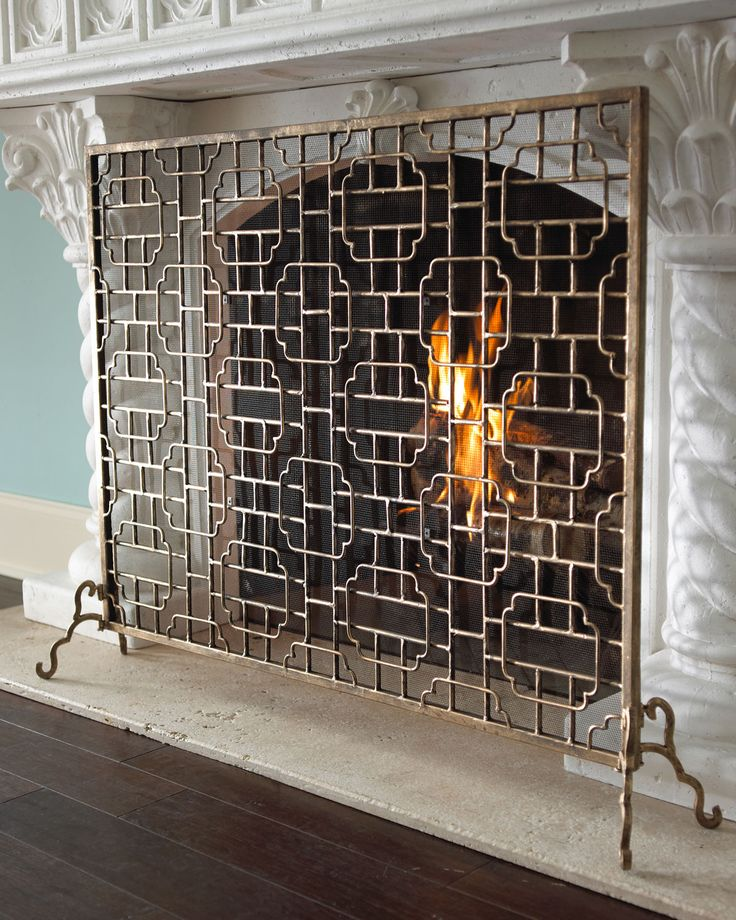 Single-Panel Fireplace Screen - Horchow