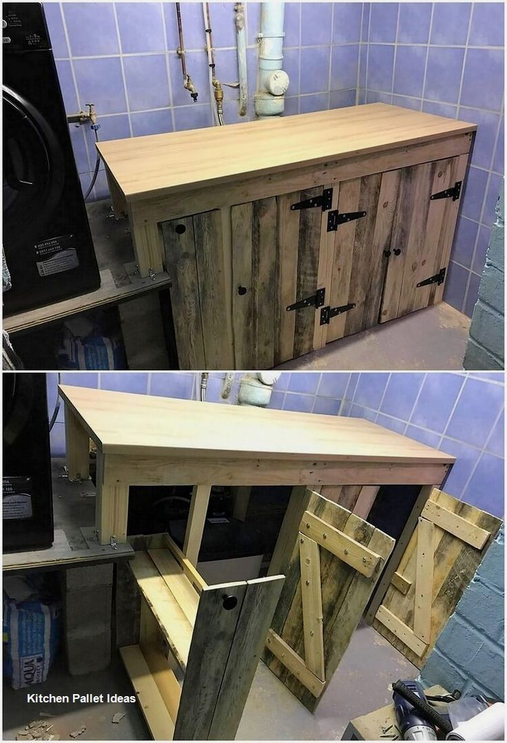 Kitchen Set From Used Pallets