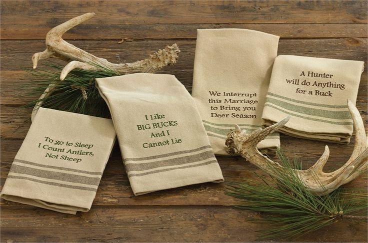 A Hunter Will Do Anything For A Buck Kitchen Hand Towel Dishtowel Deer Season Christmas Kitchen Towels Deer