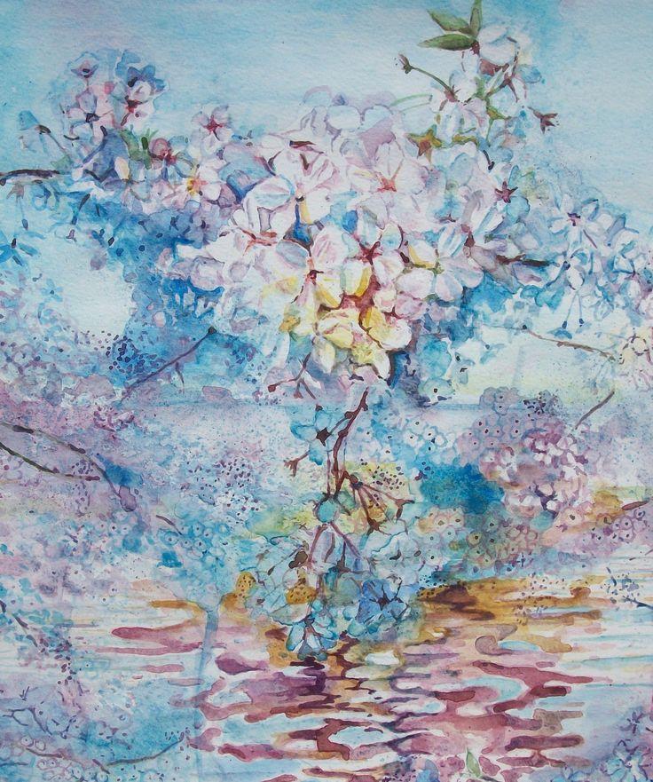 Oltre 25 fantastiche idee su fiori dipinti che ti for Fiori di ciliegio dipinti