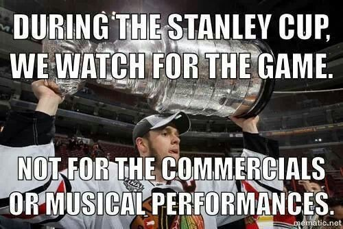 TRUTH!! much as I enjoy the commercials during the super bowl (And this year's halftime show was fantastic) it is nice to be able to just enjoy the games :)