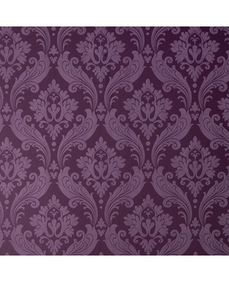 Graham & Brown - Vintage Flock: Purple Wallpaper by Kelly ($85.00 per roll at Grahambrown.com)