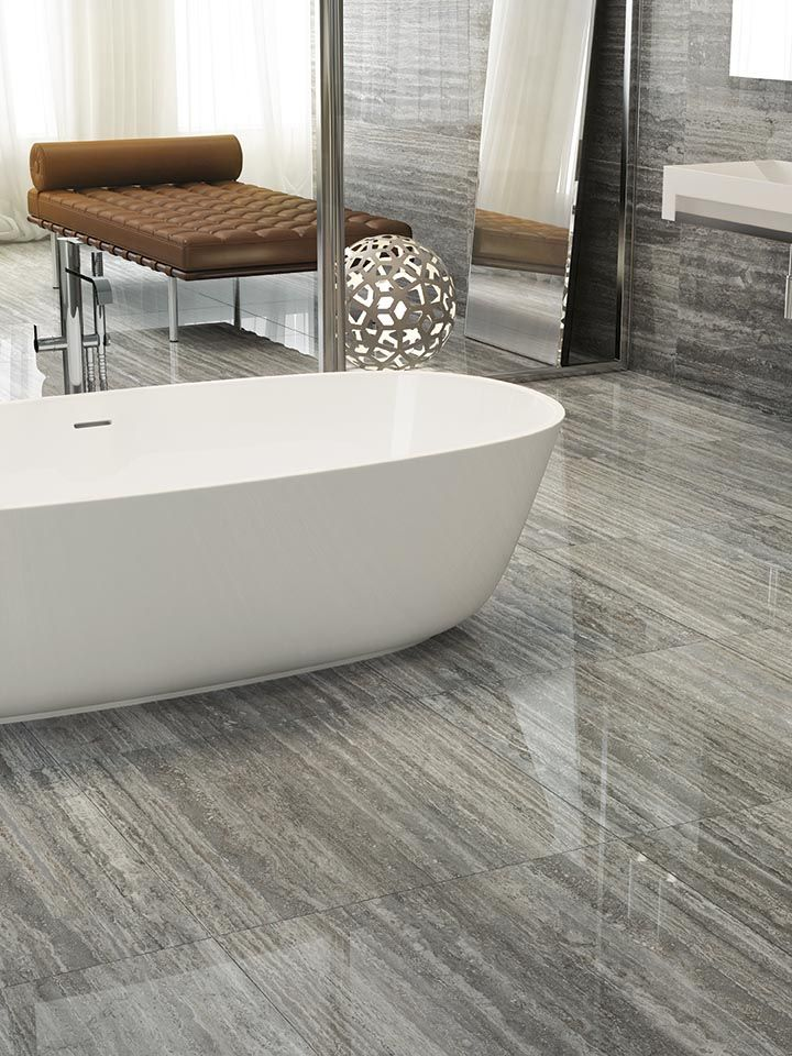 A modern bathroom - TALE Silver #ceramichecaesar #tiles #gresporcellanato…