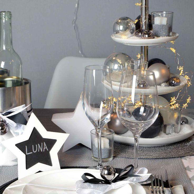 Weihnachtliche Tischdeko Rot Grau
