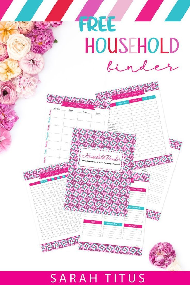 picture relating to Free Printable Household Binder titled Family members Binder Absolutely free Printables Planners Binders
