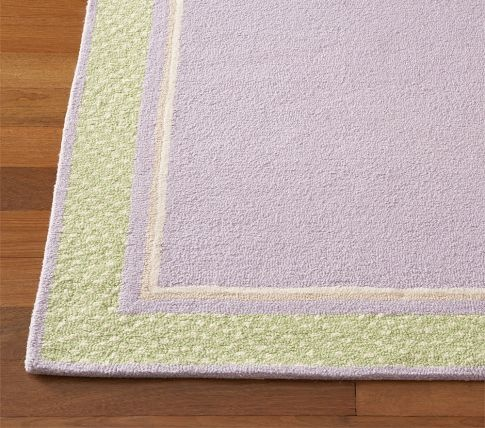 Pbk Lavender And Green Polka Dot Border Rug Decor Molly