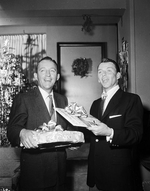 Happy Holidays with Bing and Frank, 1957.  Oh so cool Frank Sinatra Christmas Special.