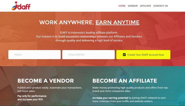 Idaff - Jaringan Pemasaran Afiliasi Terkemuka di Indonesia