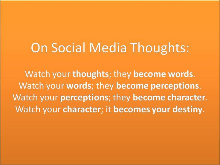 On Social Media Thoughts Watch Your Actions