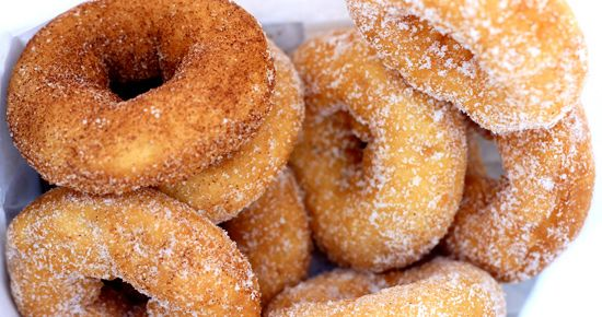 Old Fashioned Cake Donuts   These are cake donuts, so there is no yeast in them. They are more dense in texture than airy, risen yeast donuts, but just as satisfying. These are best eaten on the day they are fried.