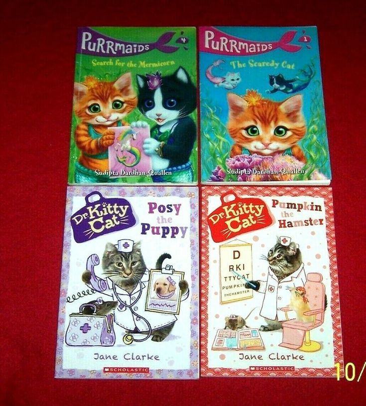 Dr Kitty Cat 4 Chapter Books Purrmaids Guided Level N 2nd 3rd Grade Chapter Books Kitty Books
