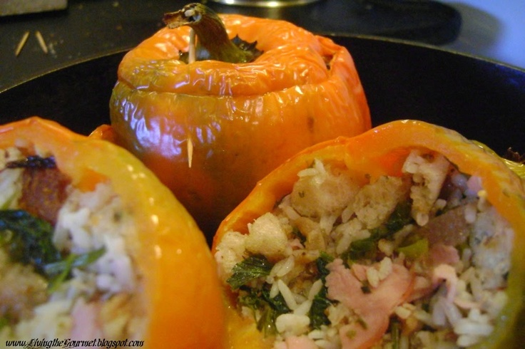 Living the Gourmet: Stuffed Bell Peppers