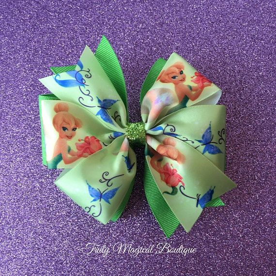 Tinkerbell Hair Bow  Tinkerbell Inspired by TrulyMagicalBoutique