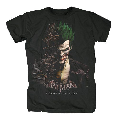 Batman Arkham Origins - Camiseta Joker - Negro - L #camiseta #starwars #marvel #gift