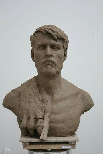 """HERCULES"" portrait of classmate. 120cm. Clay"