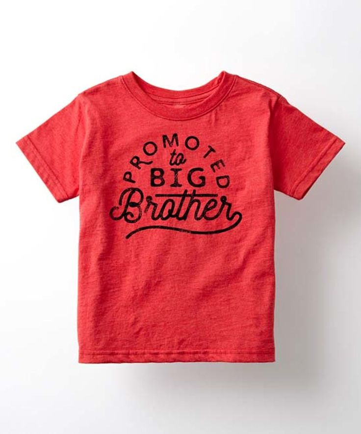Look at this #zulilyfind! Heather Red 'Promoted to Big Brother' Tee - Toddler & Boys by It's Just Me #zulilyfinds