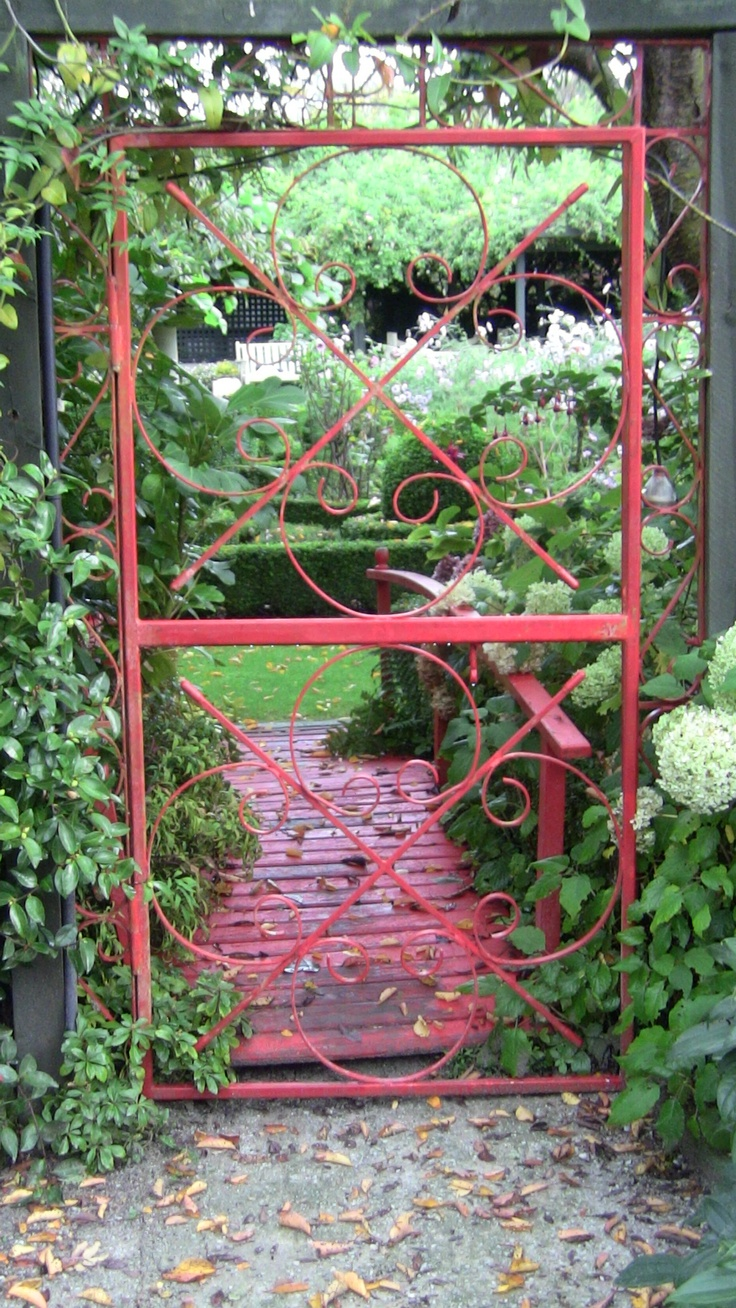 Through the red gate and over the bridge
