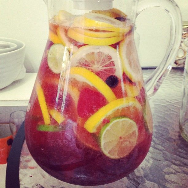 Sangria by Ali - White Zinfandel, Riesling, a little simple syrup ...