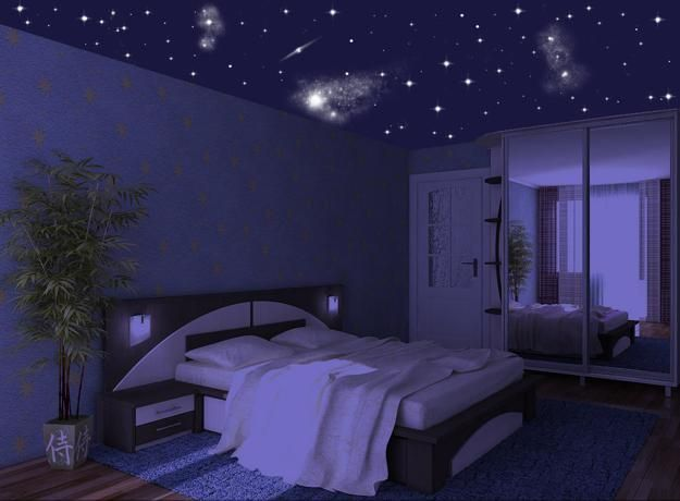 Star ceiling designs are one of the latest trends in decorating bedrooms, home theaters and living rooms