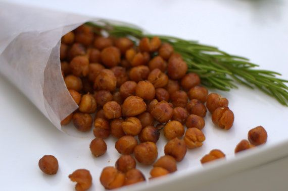 Smoked Spicy Chickpeas These are #healthy, and have great flavor for a snack or flavorful add in for a salad.