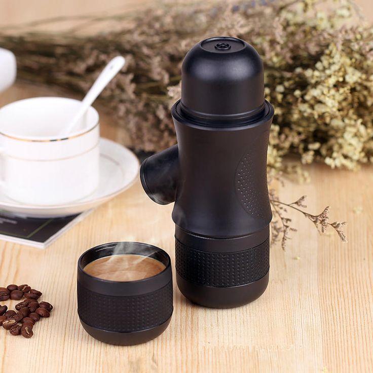 Honana Portable Manual Coffee Maker Outdoor Handheld Mini Pressing Coffee Espresso Machine at Banggood