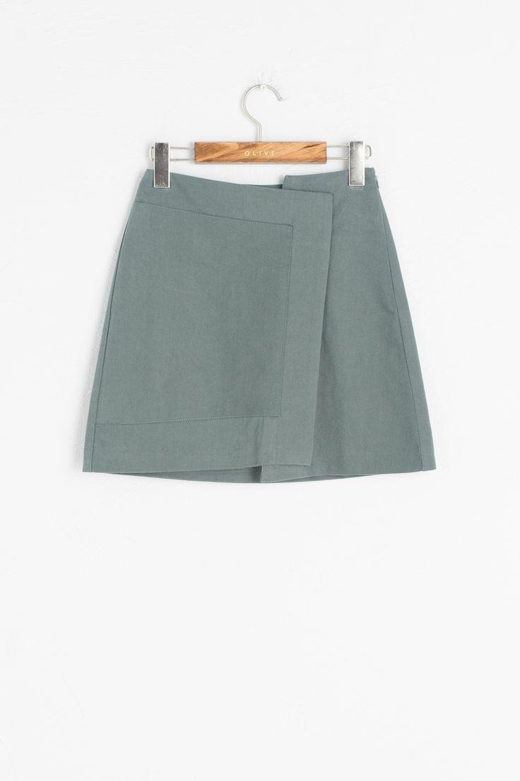 Olive - Unbalance Slim Fit Skirt, Mint, £49.00 (http://www.oliveclothing.com/p-oliveunique-20160922-030-mint-unbalance-slim-fit-skirt-mint)