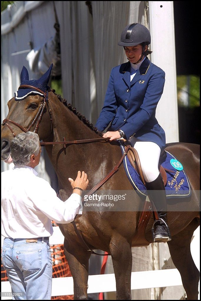 Horse accident of Athina Onassis Roussel during the Jumping of Monaco in Monaco City, Monaco on April 26, 2001.
