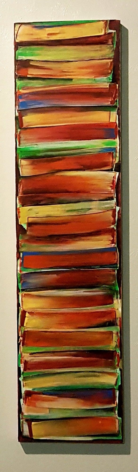 Acrylic#ink#canvas#painting#strata