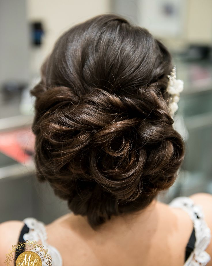 Bride updo by me.