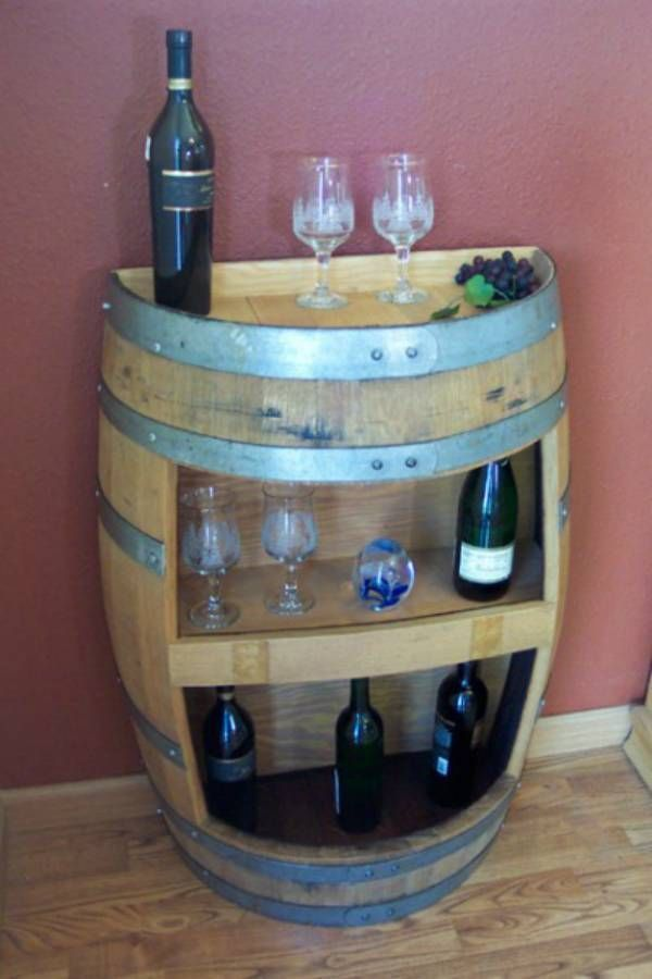 Recycled Wine Barrel Furniture Home Decor Pinterest