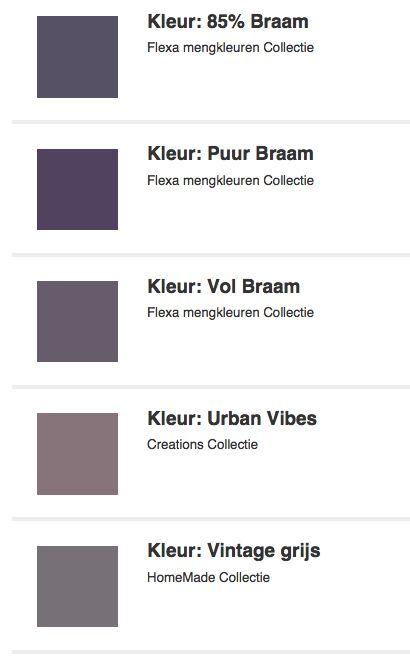 Woonkamer kleuren grijs/paars