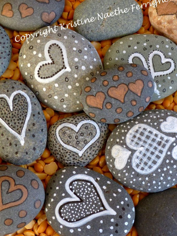 More painted heart Rock inspiration