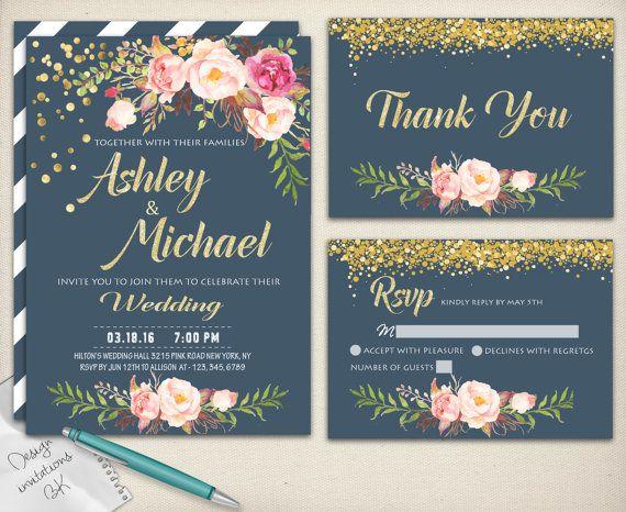 23 best Wedding Invitations images on Pinterest Wedding - printable wedding shower invitations templates