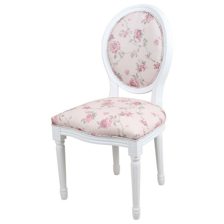 Elegant chair wooden with fabric