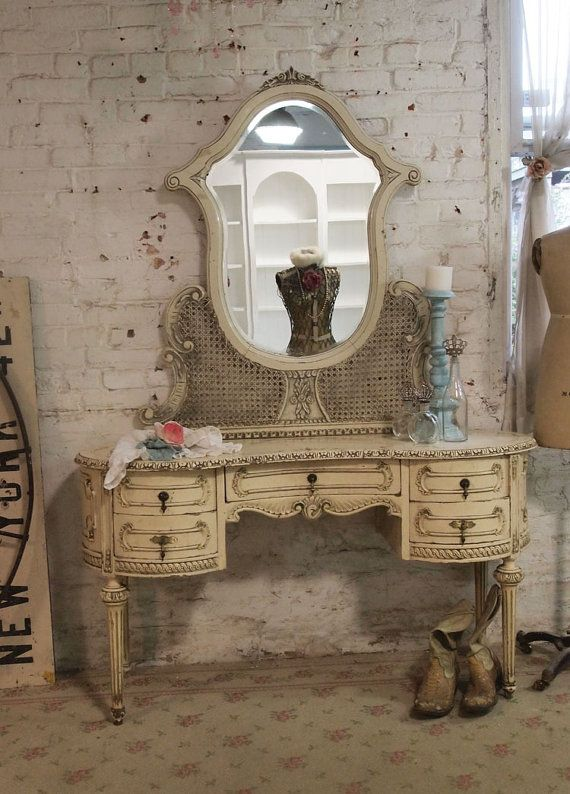 Painted Cottage Chic Shabby Romantic Vanity By Paintedcottages 109500