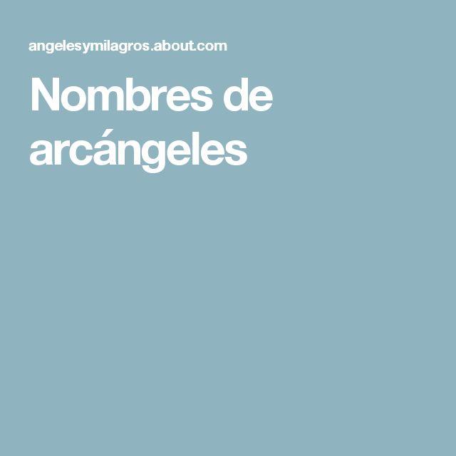 Nombres de arcángeles