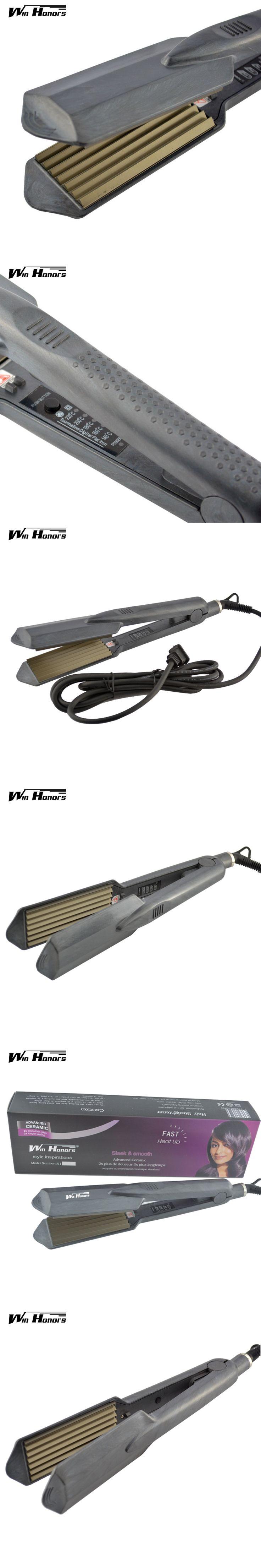 2015 Titanium Hair Crimper Straightener Irons Fluffy Styling Hair Iron Volume for Corrugated Corn Plates Ripple Machine