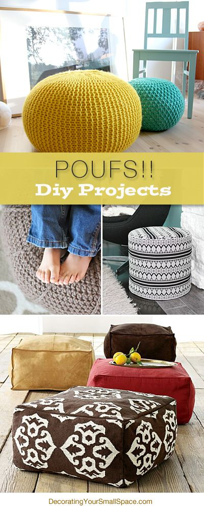 Poufs!! DIY Projects • Learn how to make Poufs! • Ideas and Tutorials! barefootstyling.com