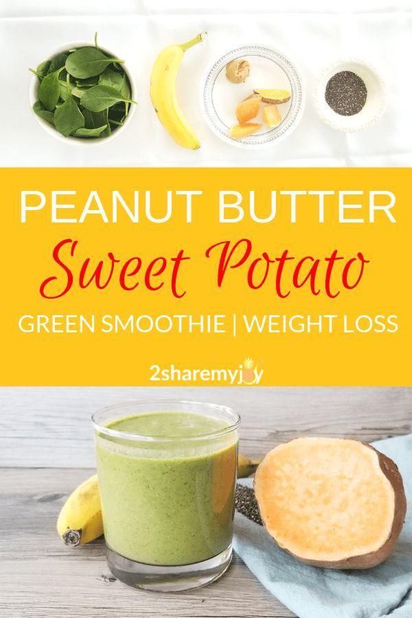 Erdnussbutter-Süßkartoffel-Smoothie (vegan) # Erdnussbutter #Kartoffel #smooth …   – gesunde Snacks zum Abnehmen