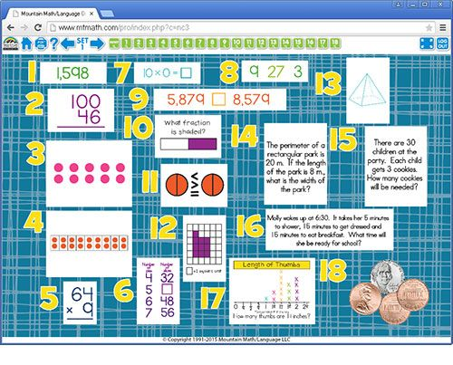 Mountain Math Worksheet - Kidz Activities
