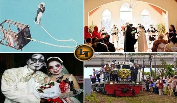 Inilah 9 Foto Resepsi Pernikahan Paling Unik Bisa Dicoba Jika Minat Berani ???