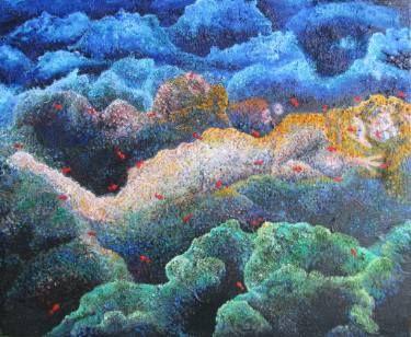 """Saatchi Art Artist Karlijn Surminski; Painting, """"Serpientes de Agua"""" #art"""