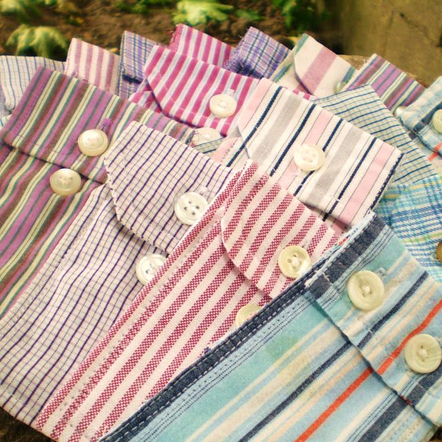 For boys tooth fairy pillow - Cute little pouches made from men's shirt cuffs