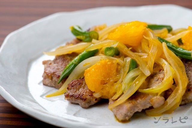 豚肉のオレンジソースソテー