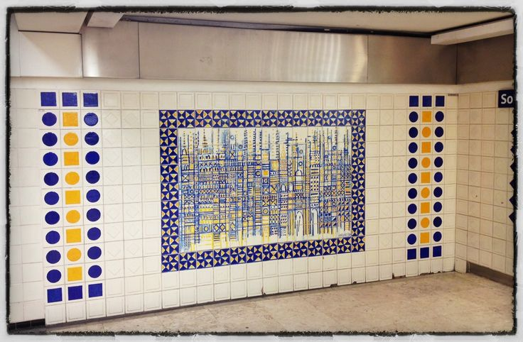 Manuel Cargaleiro | Paris | Estação / Station Champs-Elysées / Clemenceau | 1995 #Azulejo #ManuelCargaleiro